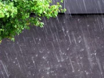 Sturzregen im Sommer